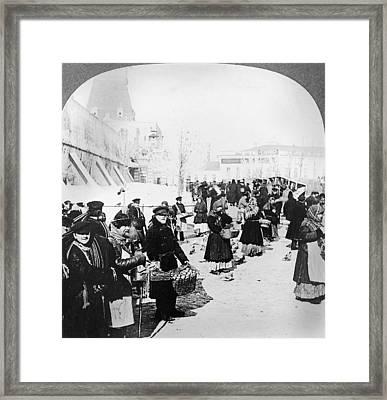 Moscow Market, C1919 Framed Print by Granger
