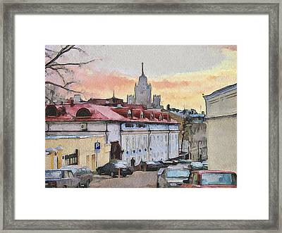 Moscow Old Streets 1 Framed Print by Yury Malkov