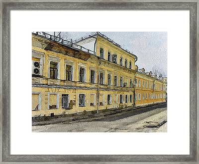 Moscow Old Streets 24 Framed Print by Yury Malkov