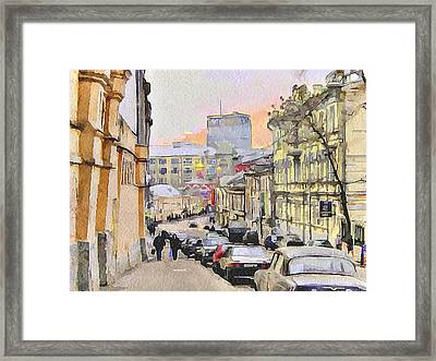 Moscow Old Streets 3 Framed Print by Yury Malkov
