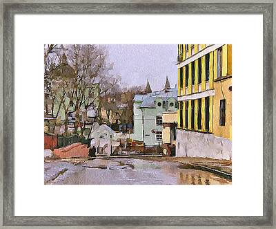 Moscow Old Streets 30 Framed Print by Yury Malkov