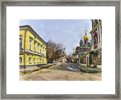 Moscow Old Streets 8 Framed Print by Yury Malkov