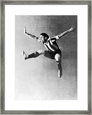 Moscow Opera Ballet Dancer Framed Print by Underwood Archives