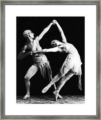 Moscow Opera Ballet Dancers Framed Print by Underwood Archives