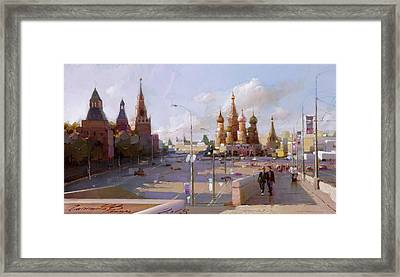 Moscow. Vasilevsky Descent. Views Of Red Square. Framed Print by Ramil Gappasov