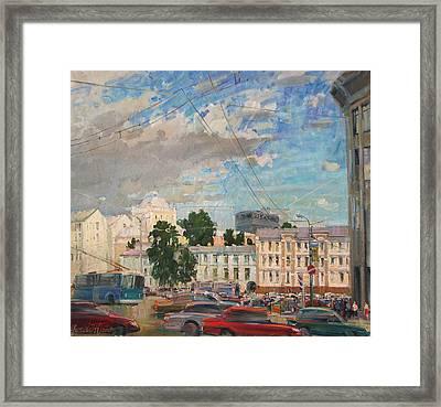 Moscow Summer 09 Framed Print by Juliya Zhukova