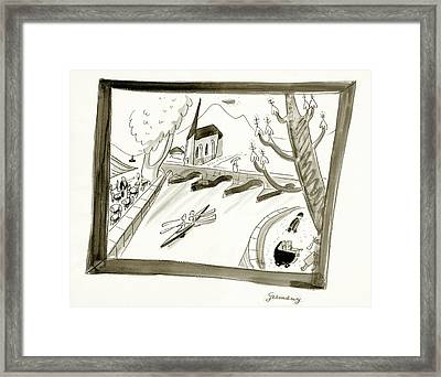 Mosel River In Germany Framed Print by Ludwig Bemelmans