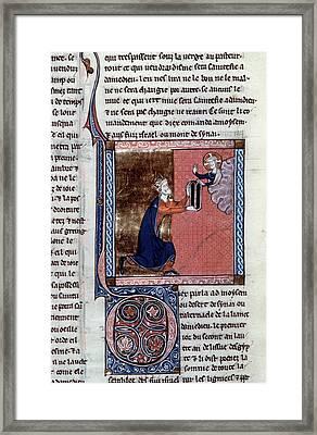 Moses & Tablets Framed Print