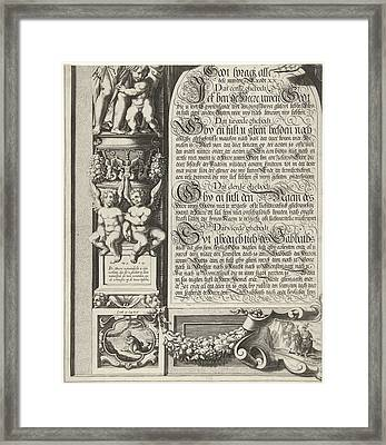Moses And Aaron With The Tablets Of The Law Leaf Left Framed Print