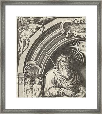 Moses And Aron With The Tablets Of The Law Leaf Left Framed Print