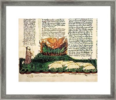 Moses At The Burning Bush, 1430 Artwork Framed Print