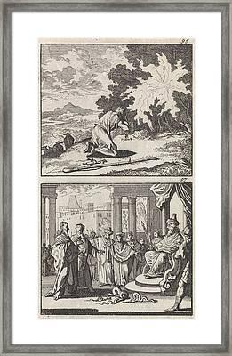 Moses At The Burning Bush, Moses And Aaron Framed Print