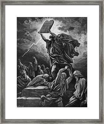Moses Breaking The Tablets Of The Law Framed Print