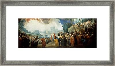 Moses Elects The Council Of Seventy Elders Framed Print by Jacob de Wit