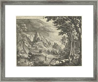 Moses Is Addressed By God On Mount Horeb Framed Print