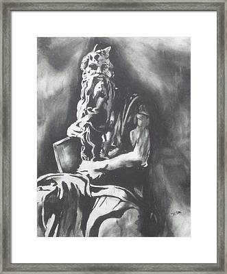 Moses Framed Print by Jeremy Moore