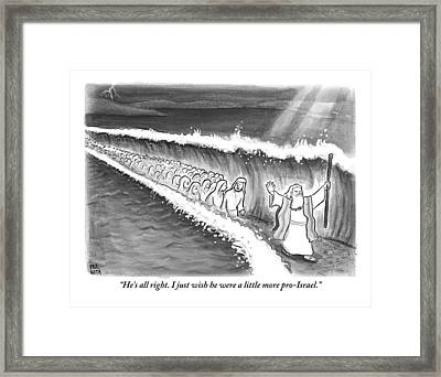Moses Parting The Sea Framed Print by Paul Noth
