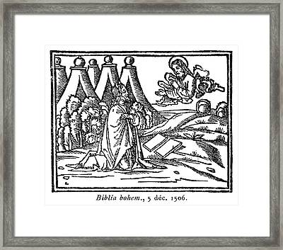 Moses Receiving The Law Framed Print