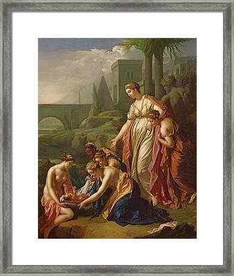 Moses Saved From The Water Framed Print by Adriaan van der Werff