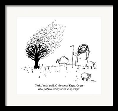 Burning Bush Drawings Framed Prints