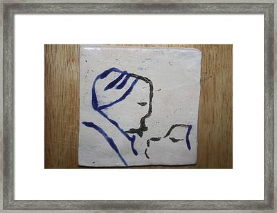 Moses - Tile Framed Print by Gloria Ssali