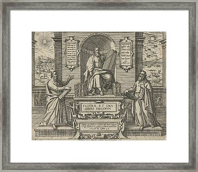 Moses With The Law In The Company Of Two Prophets Framed Print