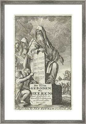 Moses With The Tablets Of Law, Jan Luyken Framed Print