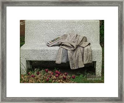Mosiac Bench Framed Print by Deborah Smolinske