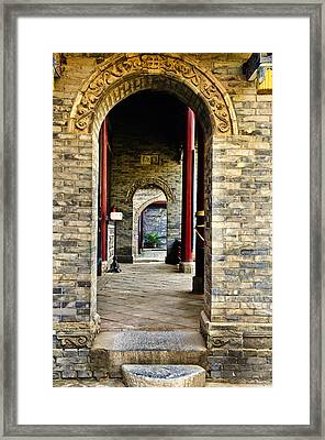 Framed Print featuring the photograph Moslem Door Xi'an China by Sally Ross