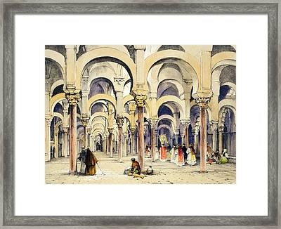Mosque At Cordoba, From Sketches Framed Print by John Frederick Lewis