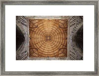 Mosque Ceiling Framed Print