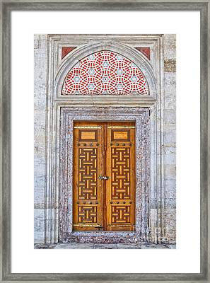 Mosque Doors 04 Framed Print by Antony McAulay