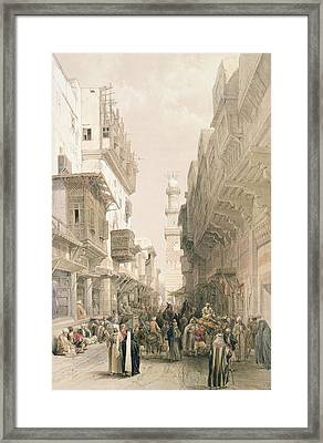 Mosque El Mooristan Framed Print by David Roberts