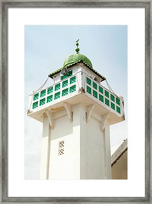 Mosque Minaret, Tabarka, Tunisia, North Framed Print by Nico Tondini