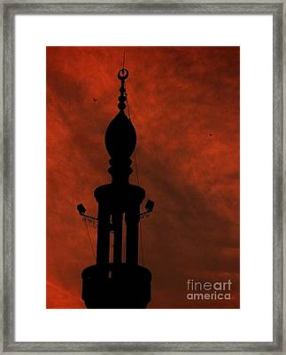 Framed Print featuring the photograph Mosque by Mohamed Elkhamisy