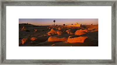Mosque On A Hill, Douz, Tunisia Framed Print by Panoramic Images