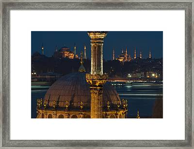 Mosques In Istanbul Framed Print by Ayhan Altun