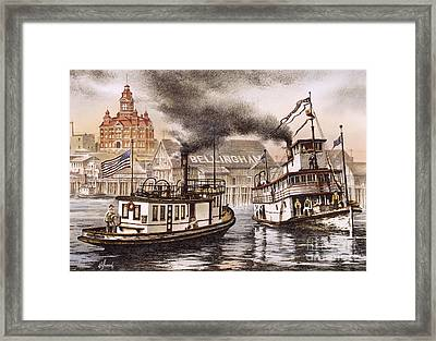 Mosquito Fleet Steamboats Framed Print by James Williamson