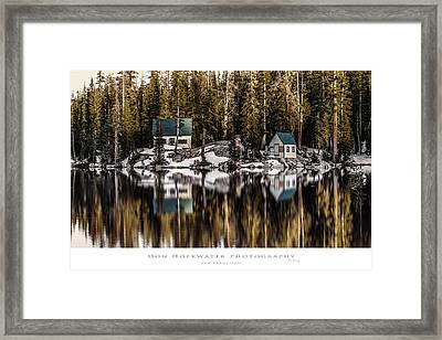 Mosquito Lake Huts Framed Print