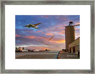Mosquitoes Over Port Stanley Framed Print