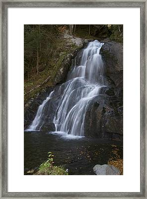 Framed Print featuring the photograph Moss Glen Falls #1 by Paul Miller
