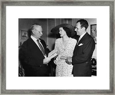 Moss Hart And Kitty Carlisle Framed Print