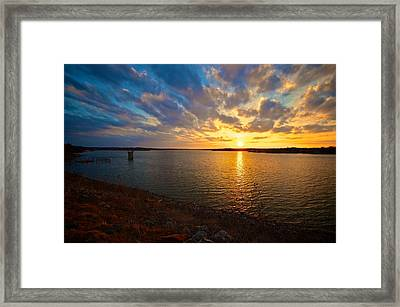 Moss Lake 6425 Framed Print