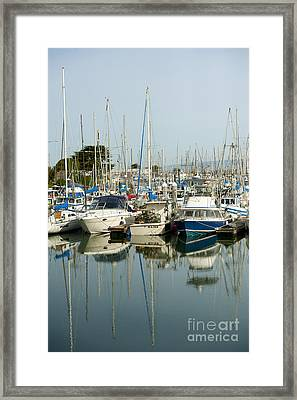 Moss Landing Boat Harbor Framed Print by Artist and Photographer Laura Wrede