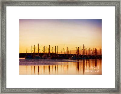 Moss Landing Sunset Framed Print