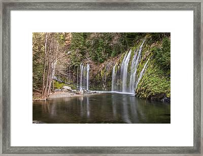 Mossbrae Falls Framed Print by Randy Wood