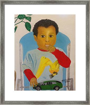 Mossiah My Grandson Framed Print by Nicole Jean-Louis