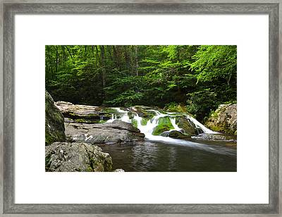 Mossy Falls Framed Print by Frozen in Time Fine Art Photography