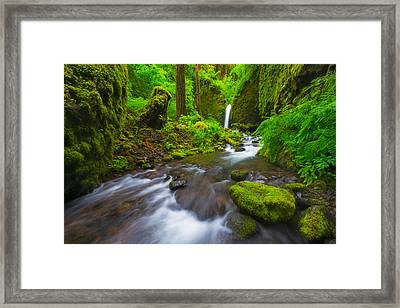 Mossy Grotto  Framed Print