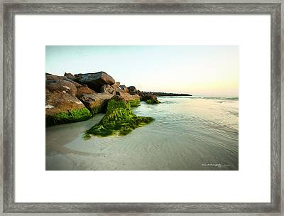 Mossy Lagoon Framed Print by Volker blu Firnkes